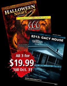 Halloween DVD special! 3 for 19.99